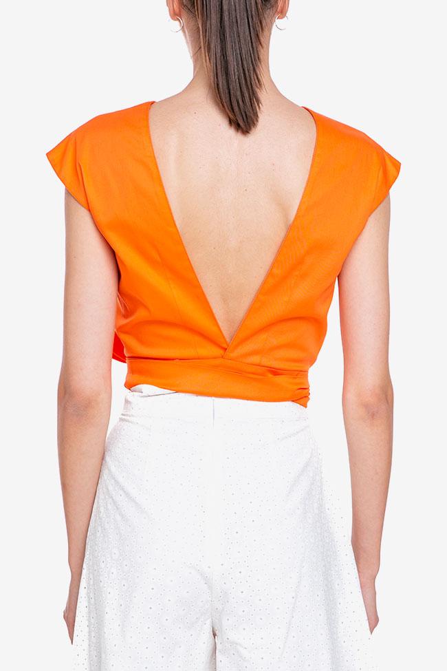 Blouse «Orange Sun» avec découpe au dos Esa  image 3