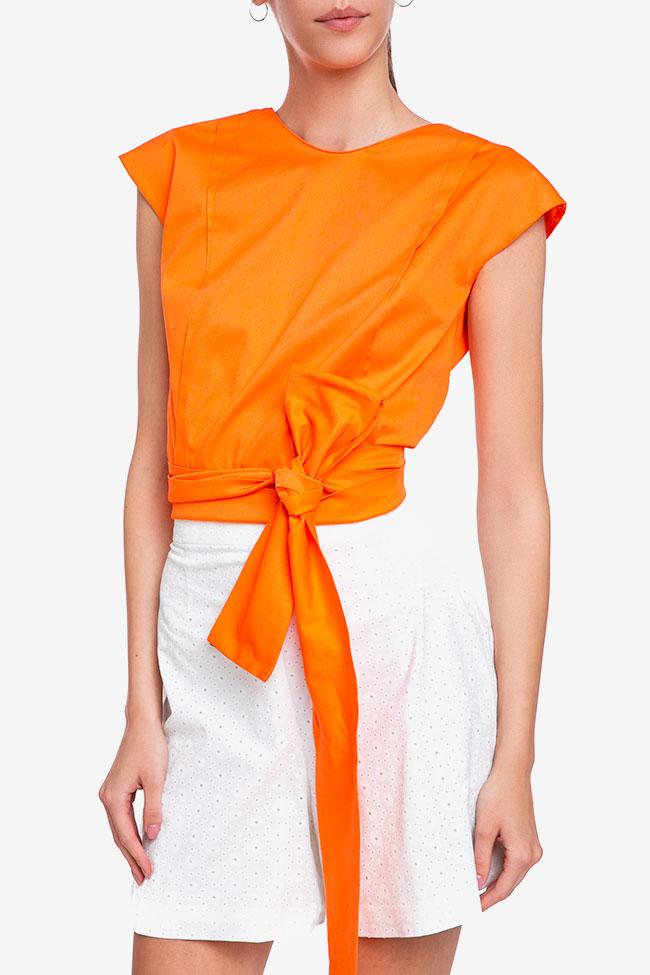 Blouse «Orange Sun» avec découpe au dos Esa  image 0