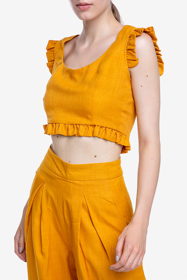 La blouse «Raya» en mélange de lin et viscose VIGO image 1