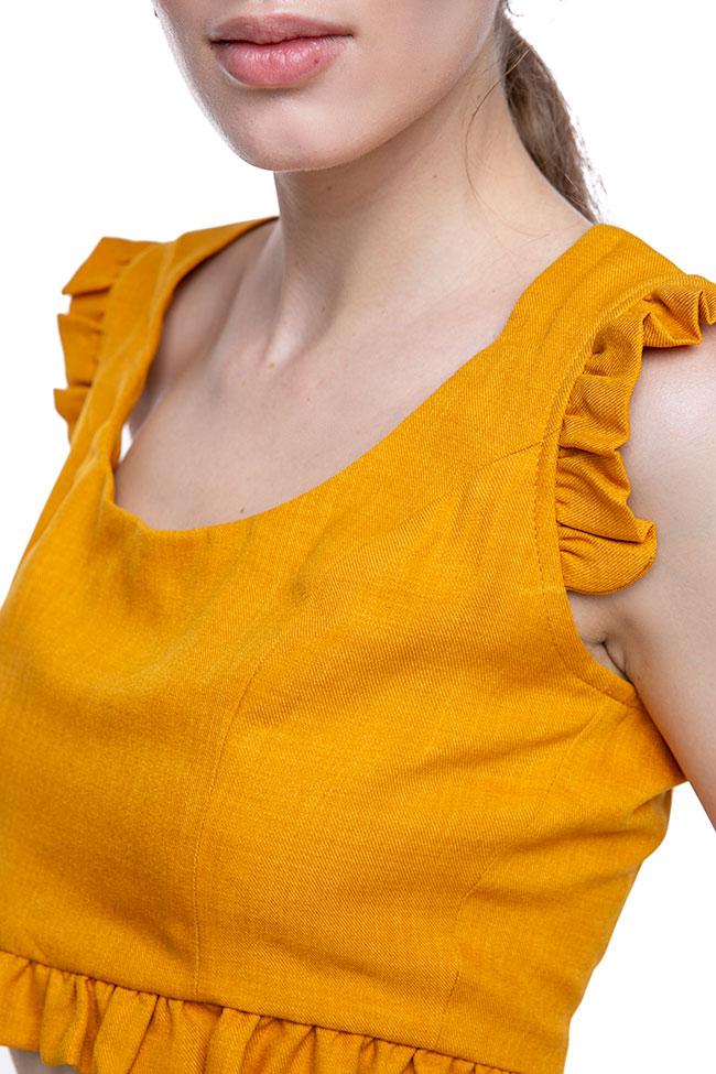 La blouse «Raya» en mélange de lin et viscose VIGO image 3