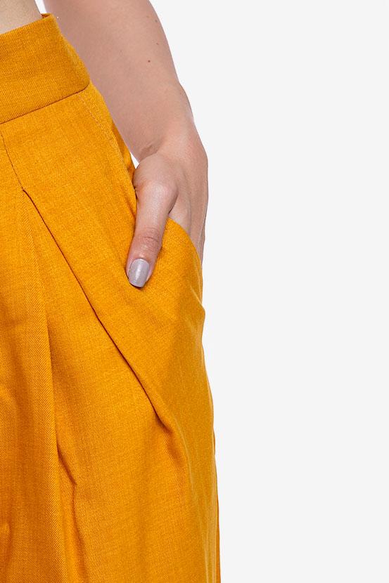 Pantalon «Raya» en mélange de lin et viscose VIGO image 3
