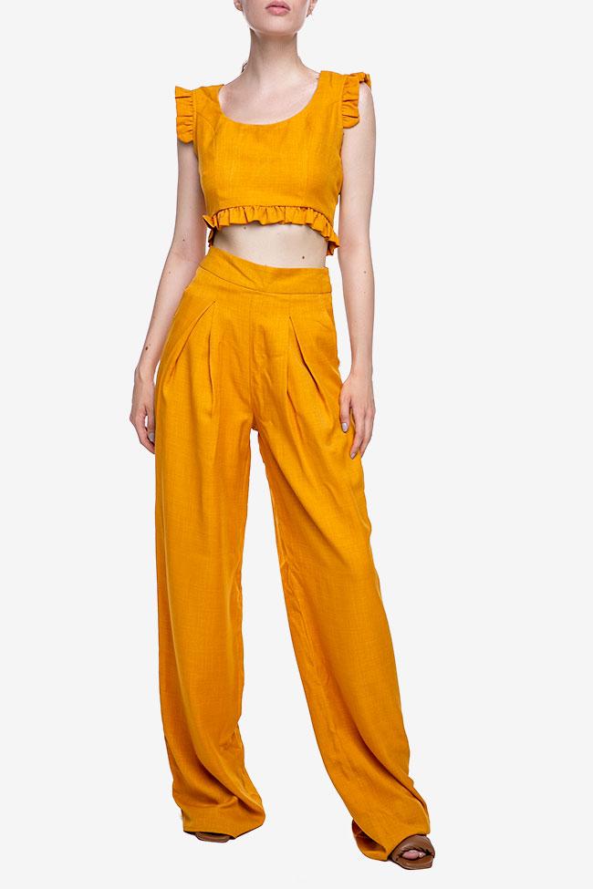 Pantalon «Raya» en mélange de lin et viscose VIGO image 1