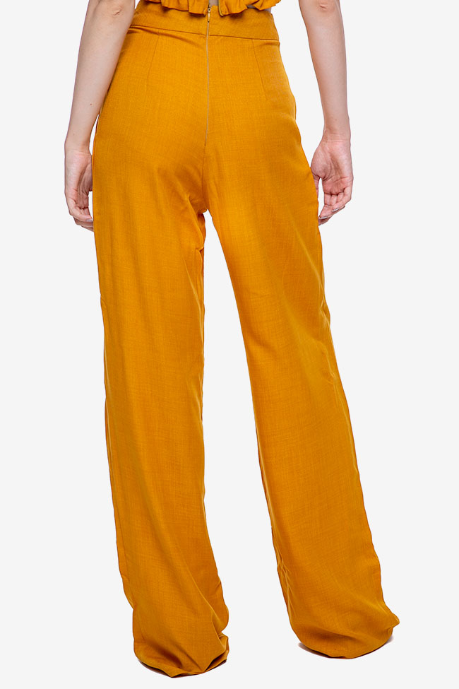 Pantalon «Raya» en mélange de lin et viscose VIGO image 2