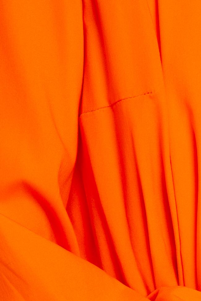 Salopeta portocalie din matase Mirela Diaconu  imagine 4
