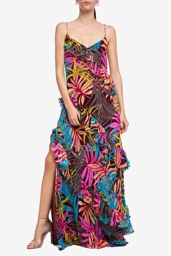 Rochie din voal cu imprimeu floral Mirela Diaconu  imagine 0