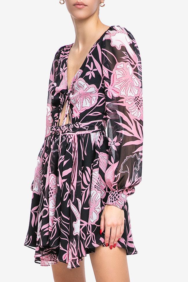 Rochie din matase cu imprimeu floral Mirela Diaconu  imagine 0