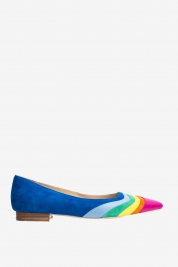 Ginissima Ballerines en cuir multicolore à bout pointu