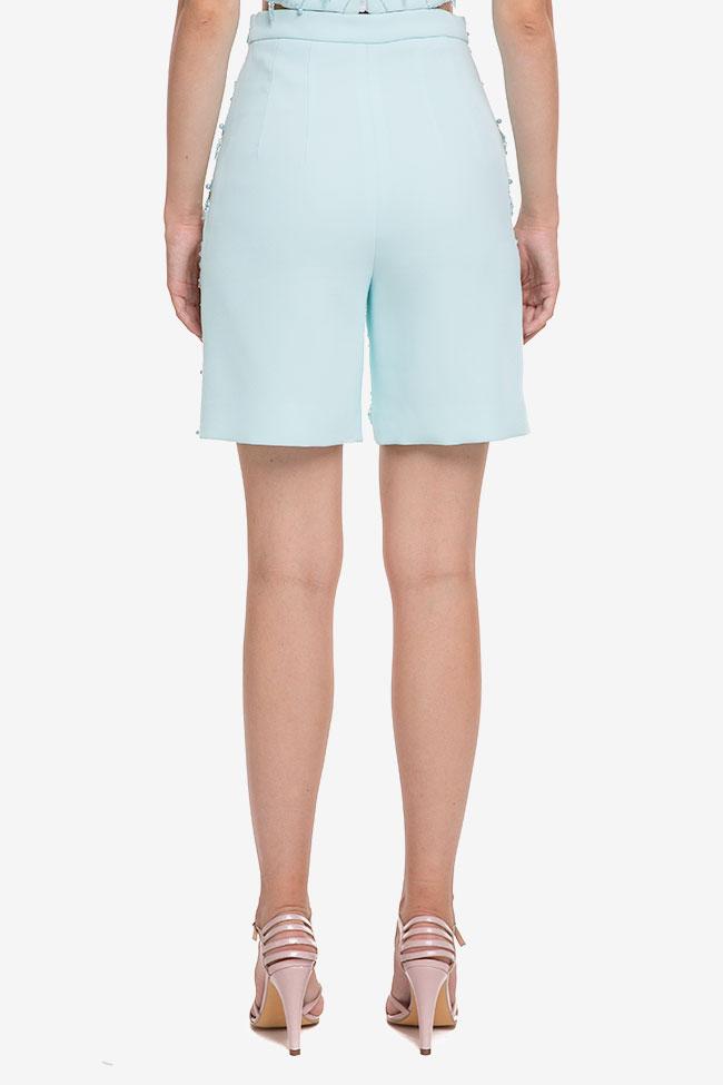 Pantaloni scurti din crep cu aplicatii M Marquise imagine 2