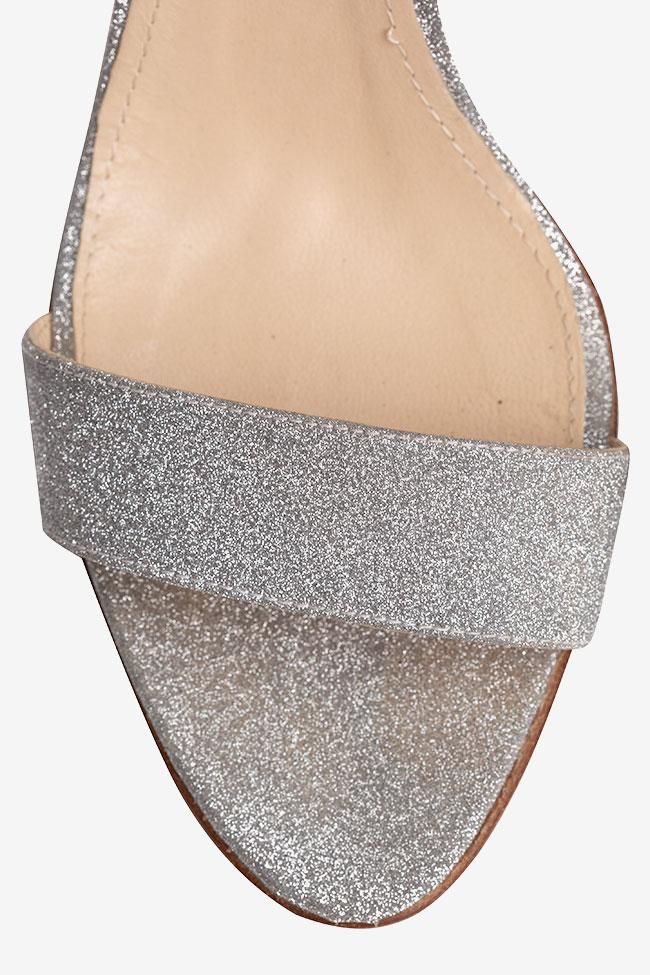 Sandales en cuir gris glitter Ginissima image 3