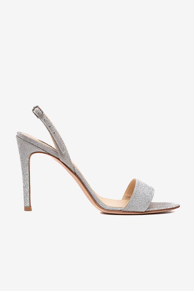 Sandales en cuir gris glitter Ginissima image 0
