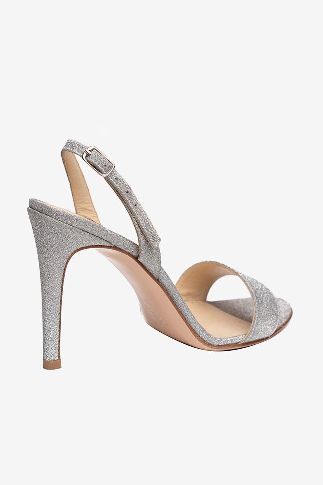 Sandales en cuir gris glitter Ginissima image 1