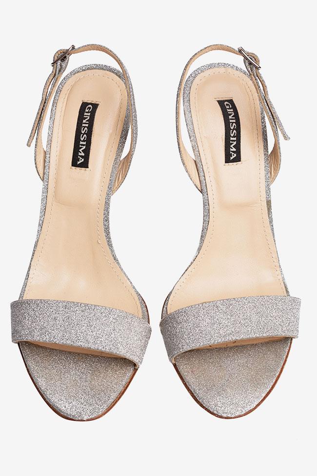 Sandales en cuir gris glitter Ginissima image 2