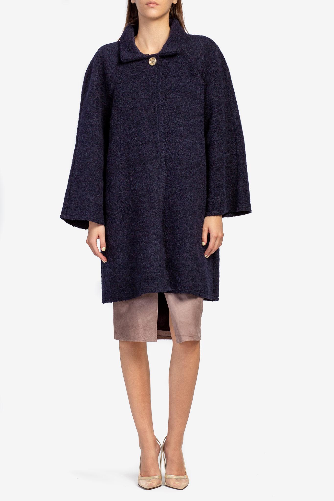 Cardigan din lana bleumarin Acob a Porter imagine 0