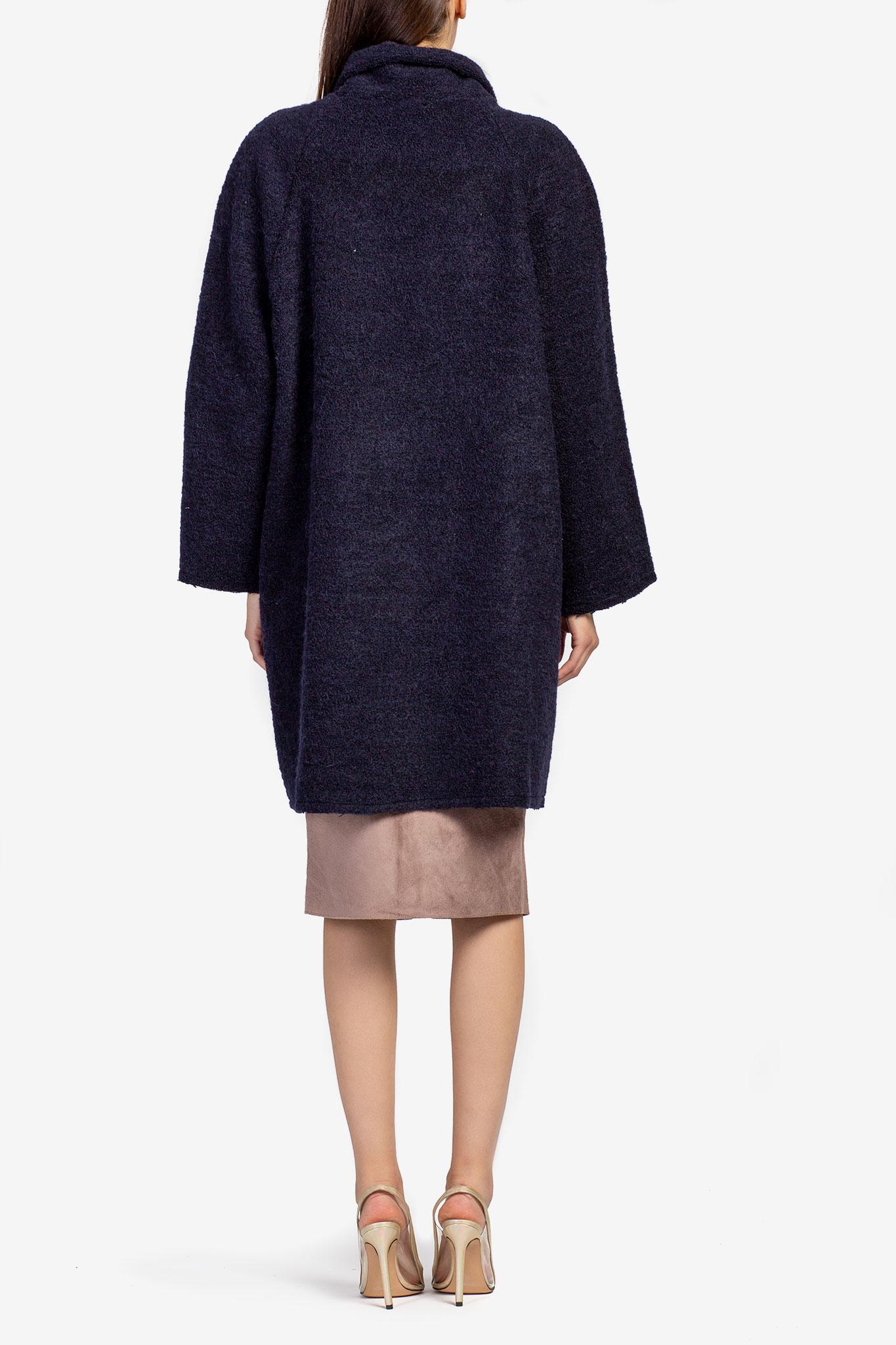 Cardigan din lana bleumarin Acob a Porter imagine 2