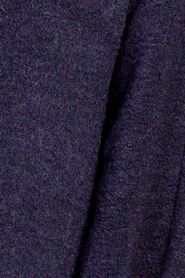 Cardigan din lana bleumarin Acob a Porter imagine 3