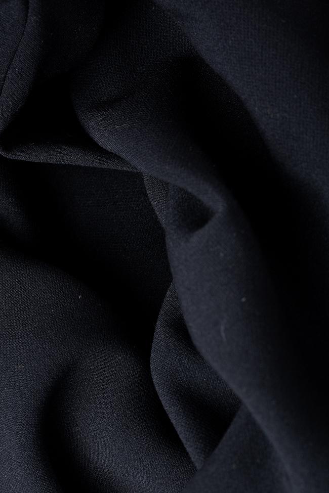 Rochie neagra din lycra cu slit lateral Anca si Silvia Negulescu imagine 4