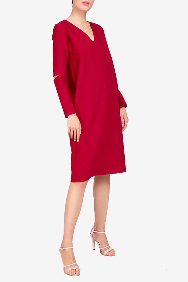 Rochie burgundy din viscoza Undress imagine 1