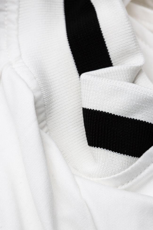 Jacheta alba din bumbac Shakara imagine 4