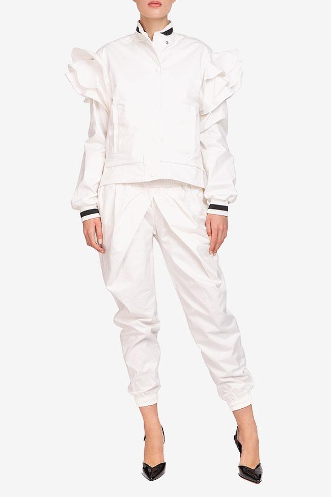 Jacheta alba din bumbac Shakara imagine 0