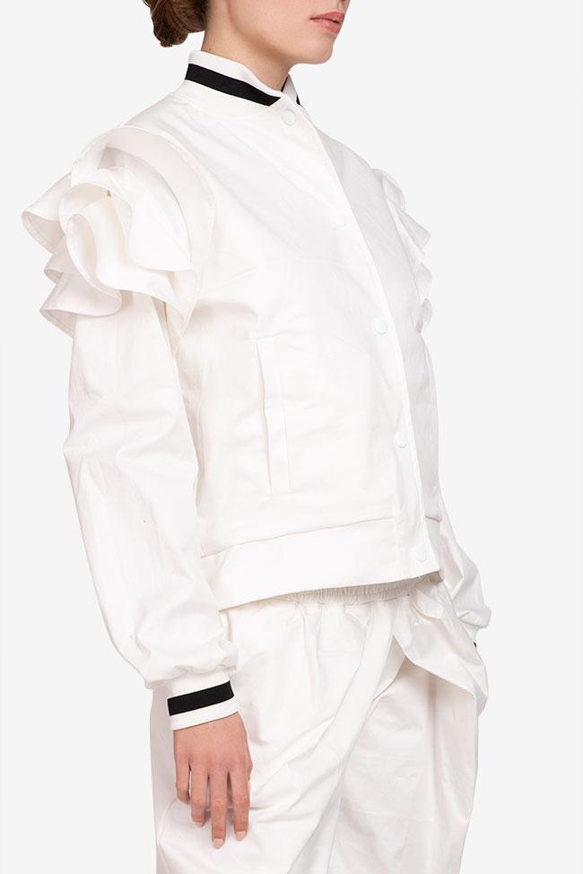 Jacheta alba din bumbac Shakara imagine 1