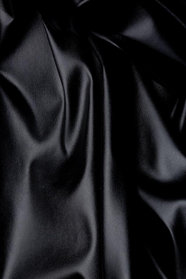 Pantaloni negru din imitatie de piele Shakara imagine 4