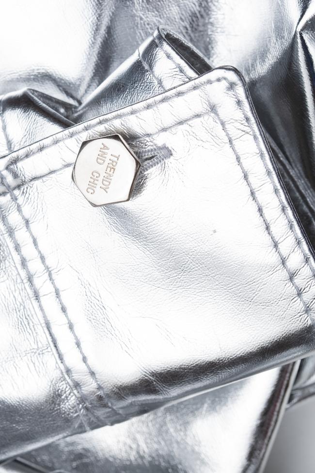 Jacheta argintie din bumbac Shakara imagine 4