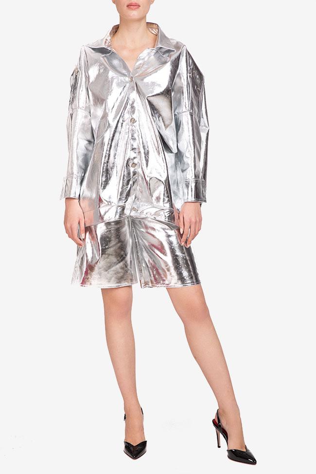 Jacheta argintie din bumbac Shakara imagine 0
