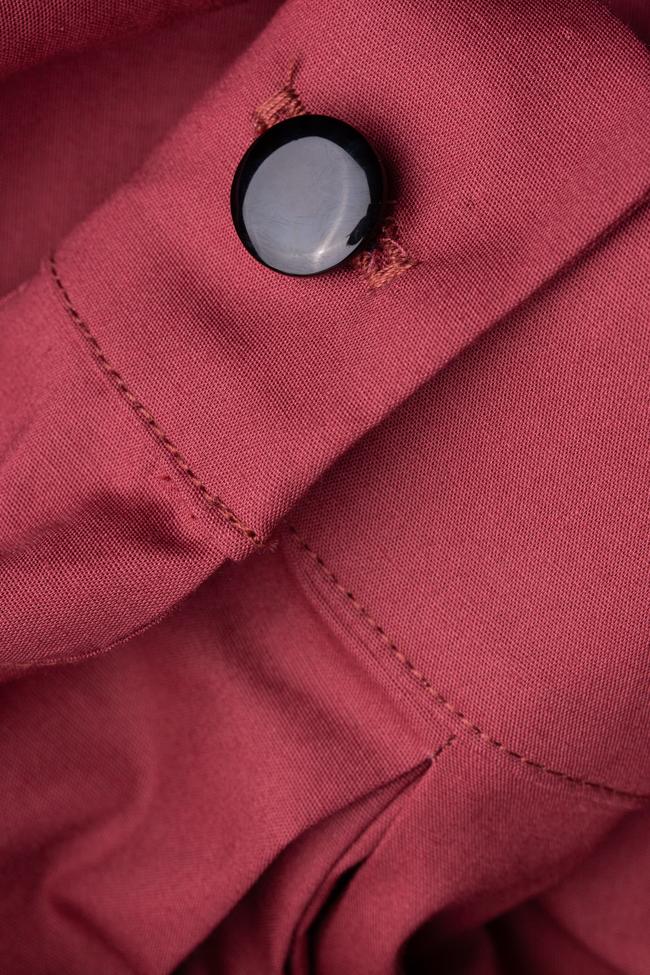 Rochie burgundy din bumbac Undress imagine 4