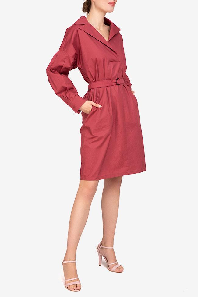 Rochie burgundy din bumbac Undress imagine 1