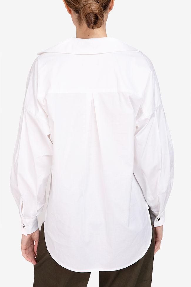 Camasa alba din bumbac Undress imagine 2