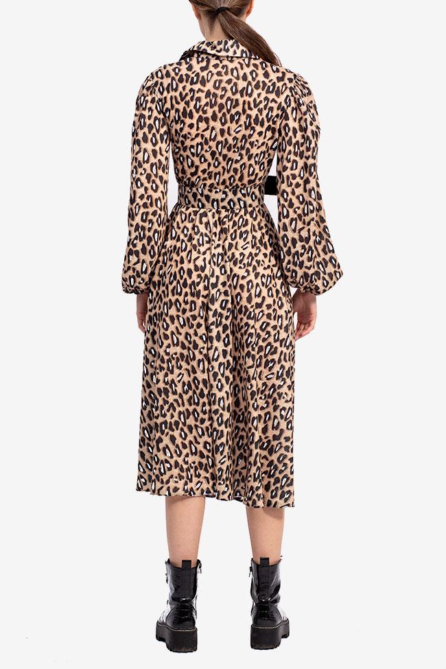 Rochie midi imprimeu leopard Esa  imagine 2