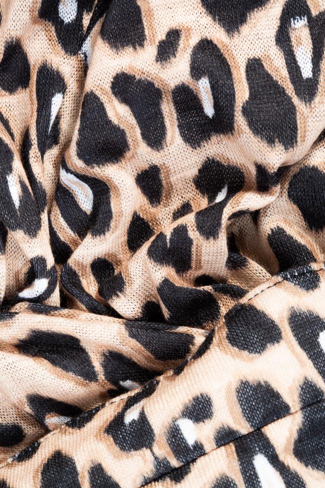 Rochie midi imprimeu leopard Esa  imagine 4