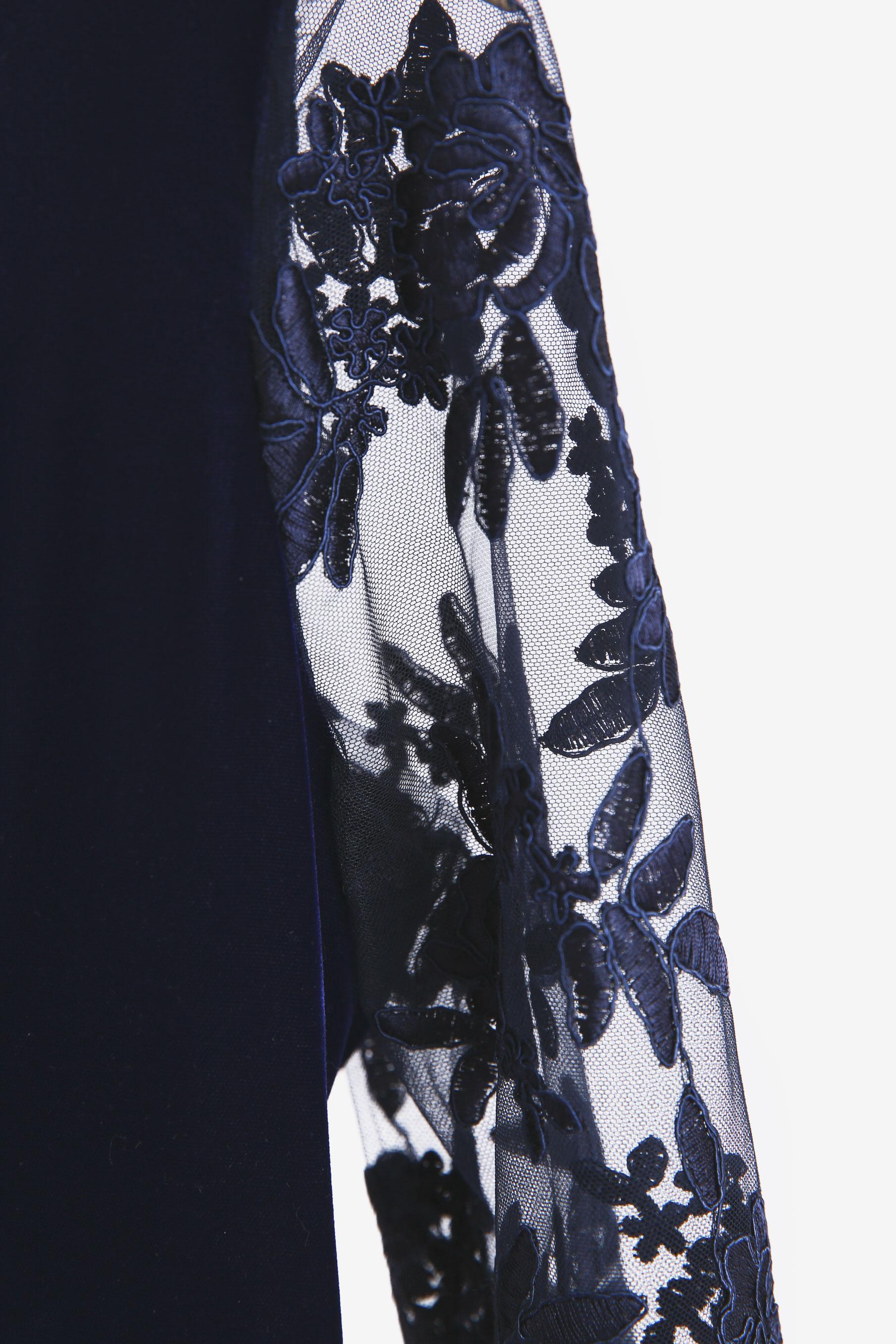 Rochie din catifea MIRUNA TANILIAN SECOND HAND imagine 1