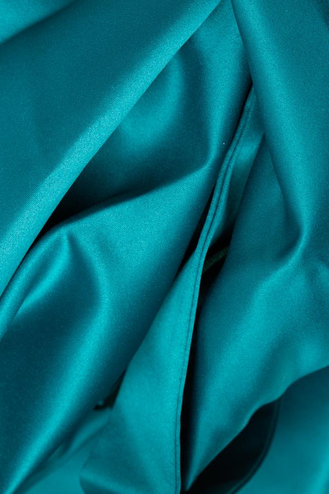 Rochie din tafta cu corset si lungime asimetrica BBY Fashion imagine 2