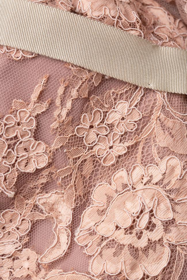 Rochie maxi din dantela roz prafuit Pronovias imagine 2