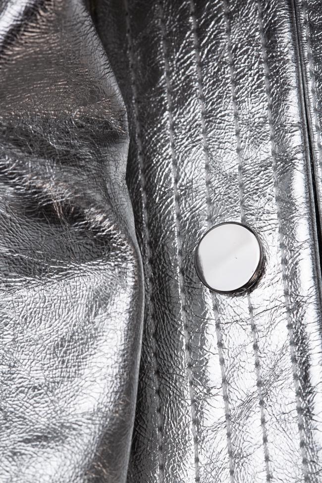 Geaca metalizata de piele Miss Sixty imagine 2