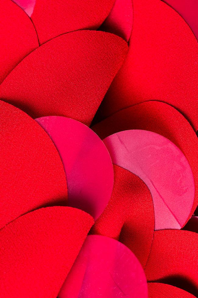Rochie rosie cu aplicatii cercuri si paiete Coast imagine 2