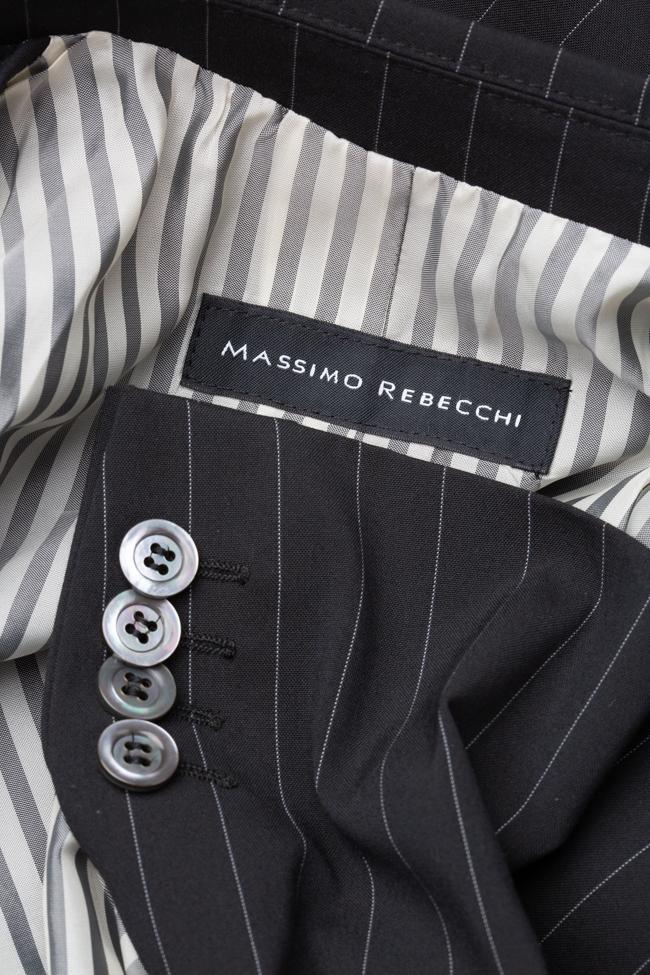 Costum cu dungi Massimo Rebecchi imagine 2