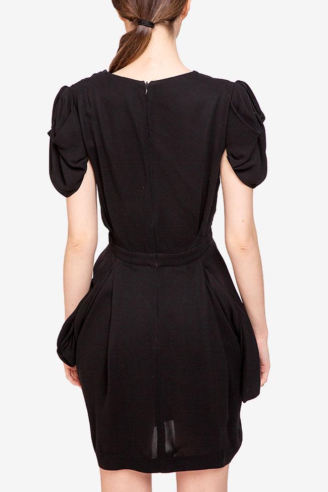 Rochie neagra cu fronseuri Miu Miu imagine 1