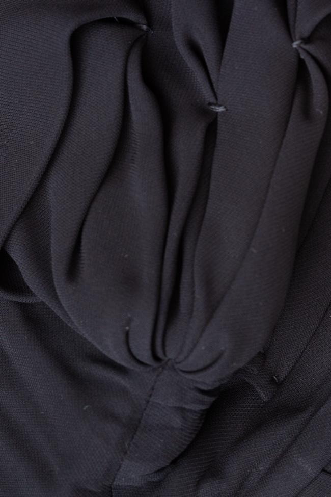 Rochie neagra cu fronseuri Miu Miu imagine 2