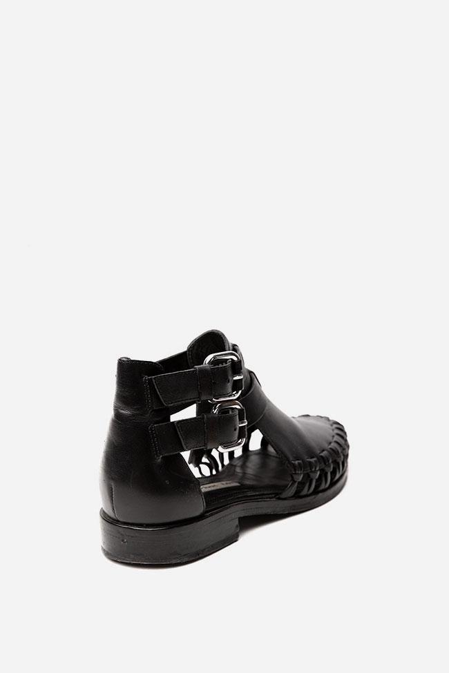 Sandale negre cu decupaje &other Stories imagine 2