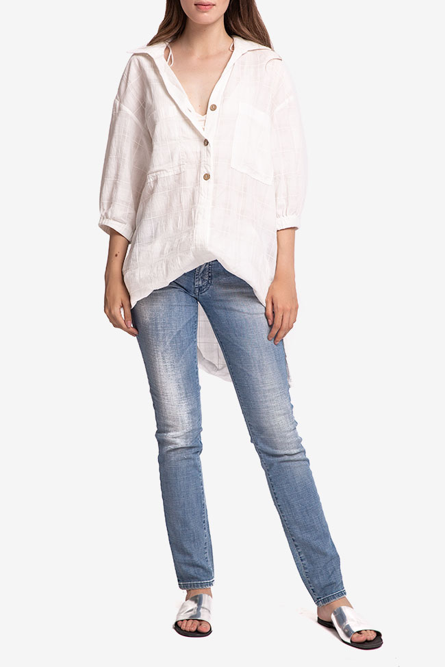 Blugi denim bleu SOS Jeans imagine 0