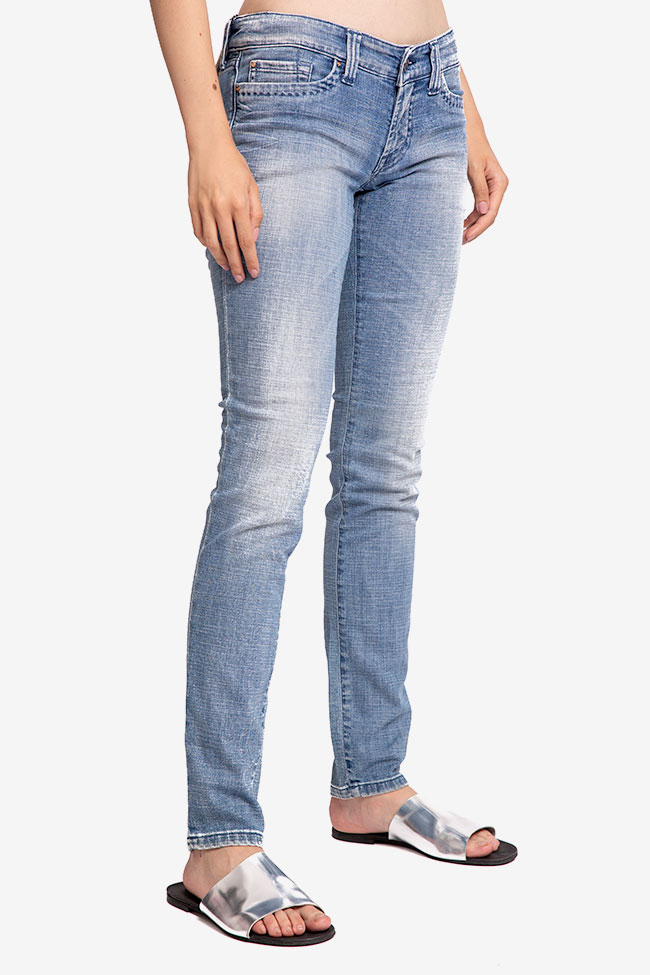 Blugi denim bleu SOS Jeans imagine 1