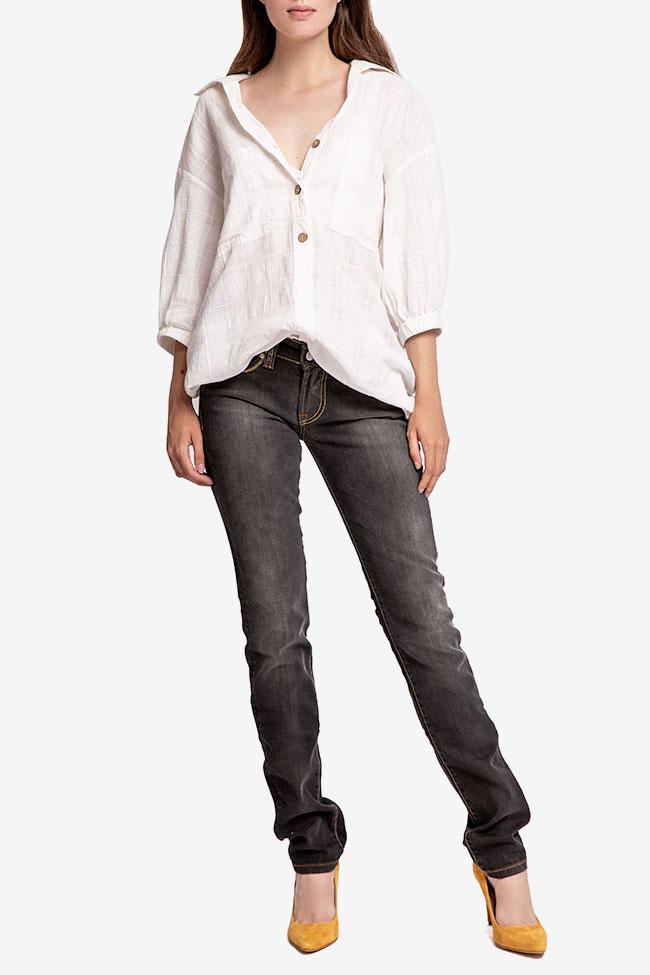 Blugi negri drepti SOS Jeans imagine 0