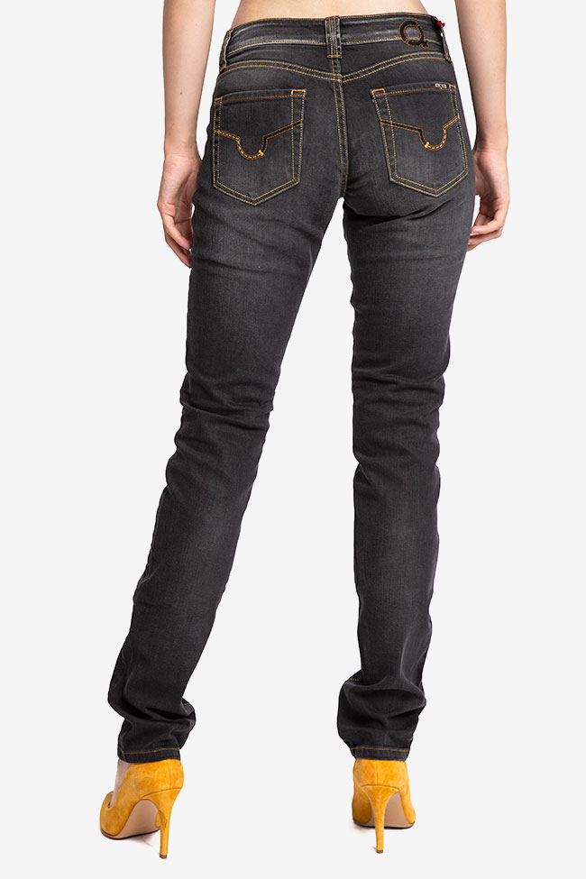 Blugi negri drepti SOS Jeans imagine 1