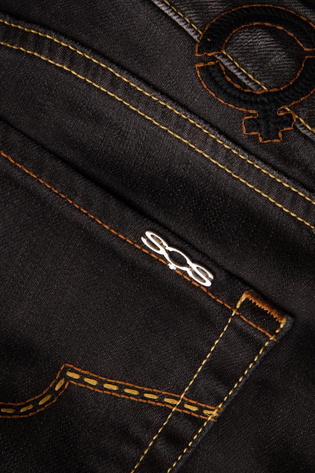 Blugi negri drepti SOS Jeans imagine 2