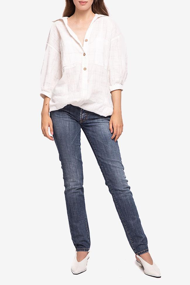 Blugi bleumarin SOS Jeans imagine 0