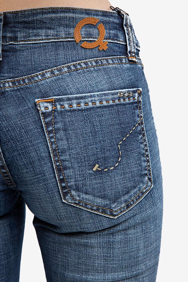 Blugi bleumarin SOS Jeans imagine 2