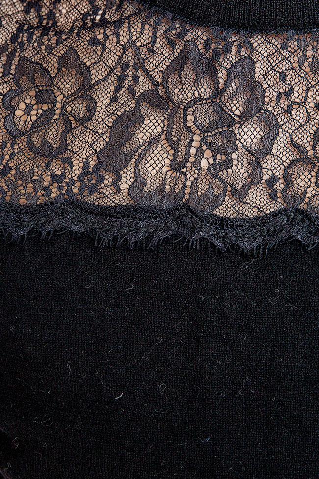 Rochie din lana cu broderie Guess imagine 2