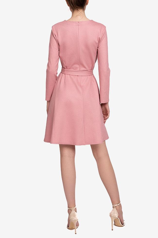 Rochie roz din lana cu cordon in talie Marella imagine 1